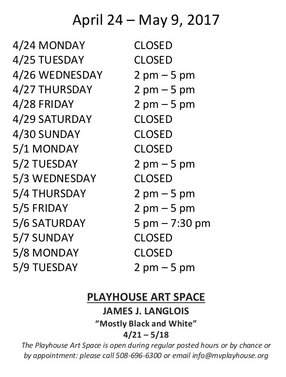 Hours Apr 24 - May 9