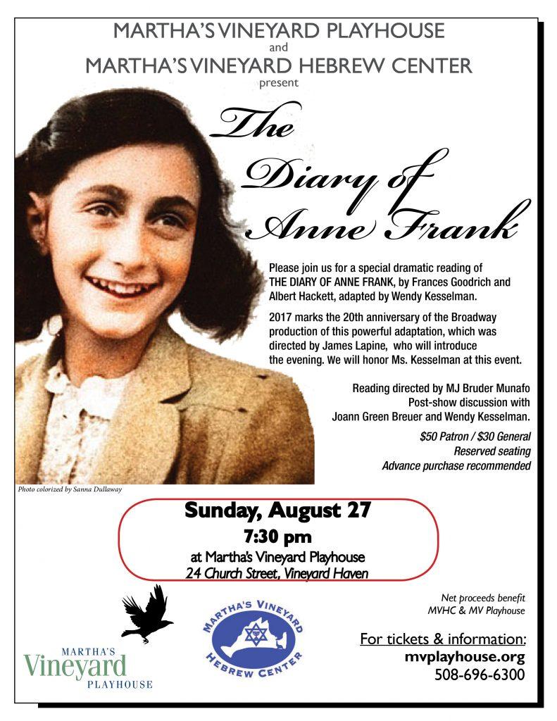 Anne Frank Flyer